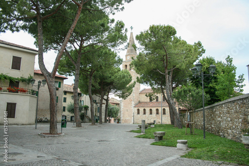 Ancient Church and Bell Tower of Santa Eufemia in the City Called Grado in North Wallpaper Mural