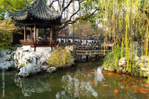 Shanghai Garten Tableau sur Toile