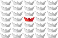 Foglio Di Barche Bianche Una R...