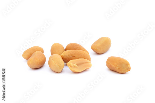 Roasted peanuts snack isolated on a white background