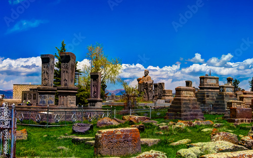 Printed kitchen splashbacks Cemetery Stone slabs aka khachkar in Noratus cemetery, Armenia