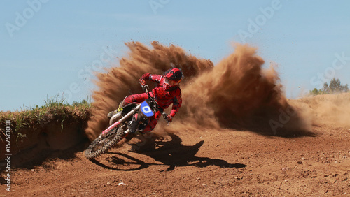 Photo sur Aluminium Motorise motocross