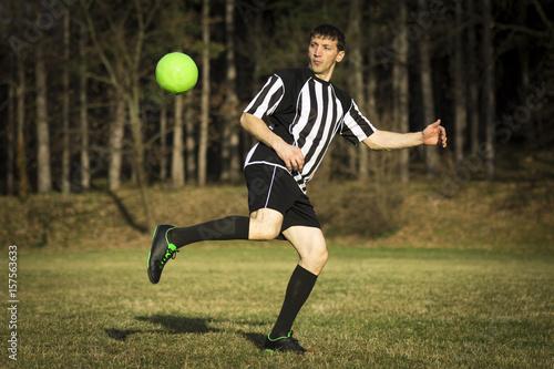 playing football player