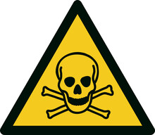 ISO 7010 W016 Warning; Toxic Material
