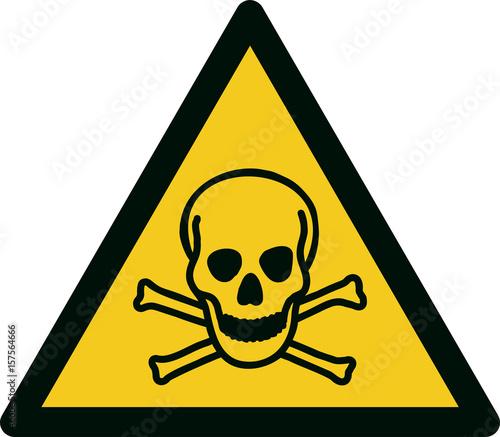 ISO 7010 W016 Warning; Toxic material Fotobehang