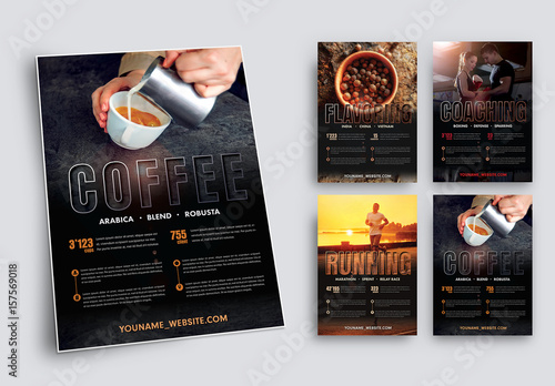 Fitness And Nutrition Flyer Layout Set 1 Buy This Stock Template