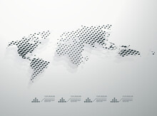 Dotted Monochrome Abstract Wor...