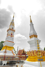 Phra That Anon, An Old Thai Chedi (stupa Or Pagoda) Containing Relic Of Ananda (a Favoured Disciple Of The Buddha) Located At Wat Mahathat Temple In Downtown Yasothon, Northeastern (Isan) Province Of