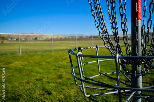 фотографія  Metal Frisbee Golf Basket