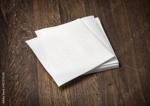 Fotografie, Obraz white paper napkin on  table