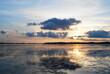 Beautiful sunset in the Danube Delta (Delata Dunarii)