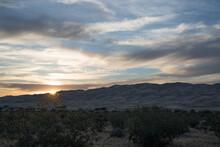 Sunset At Kelso Dunes