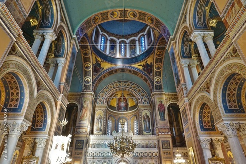 The Metropolitan Cathedral of the Annunciation (Metropolis or Mitropoli), the Gr Wallpaper Mural