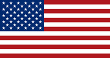 American Flag, Flat Layout, Ve...