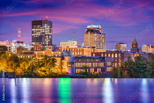 Manchester, New Hampshire, USA Skyline