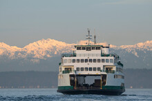 Ferry And Olympic Mountains