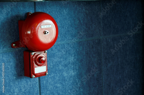 Fire alarm on the wall Canvas Print