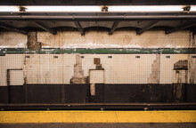 Dirty, Grunge Wall Of New York Subway