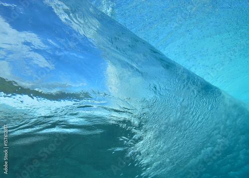 Zdjęcie XXL wizja fali pod wodą
