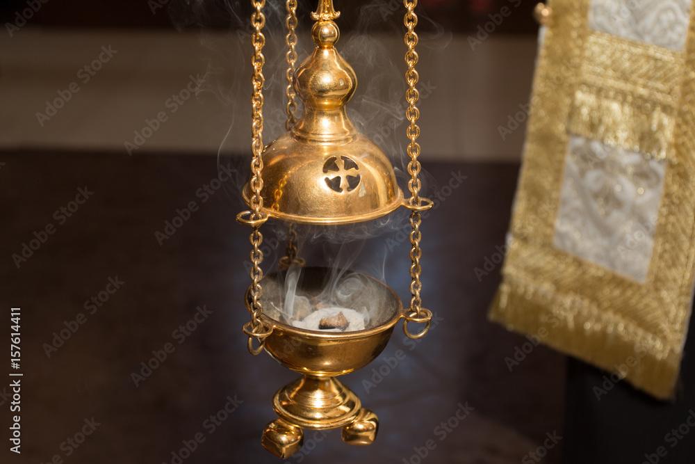 Fototapety, obrazy: The Golden Church Censer