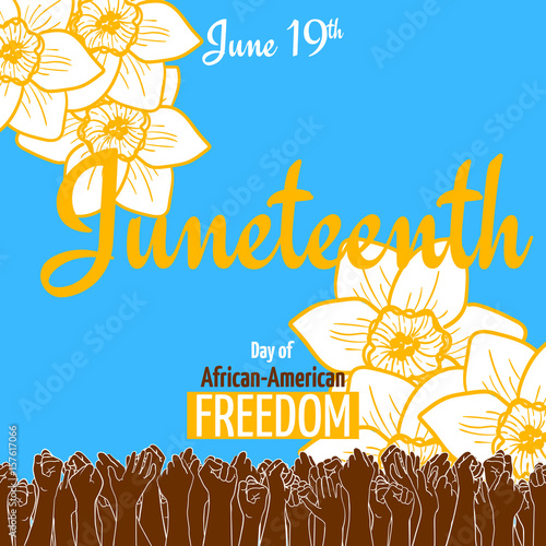 Photo Juneteenth, African-American Independence Day, June 19