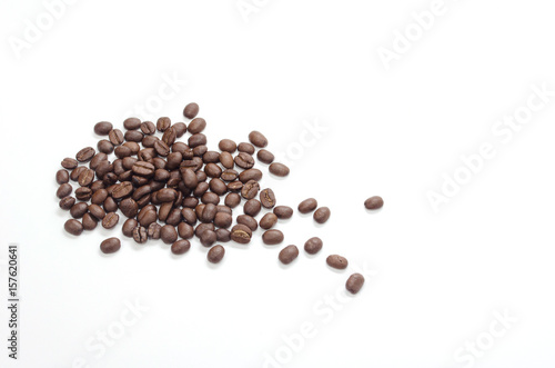 Wall Murals Coffee beans The coffee beans isolate on white background
