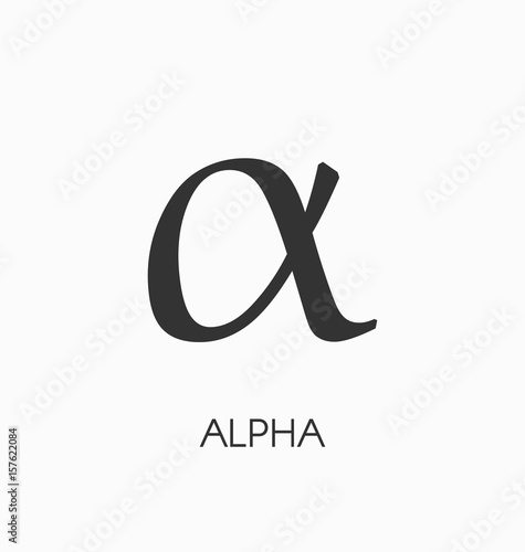 Photo Alpha letter vector sign