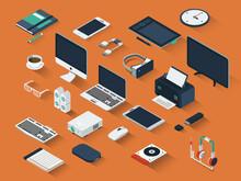 Isometric Technology Device Set