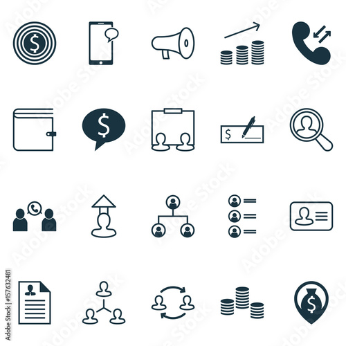 hr icons set collection of curriculum vitae job applicants