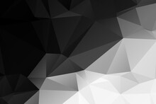 Black And White Abstract Polyg...