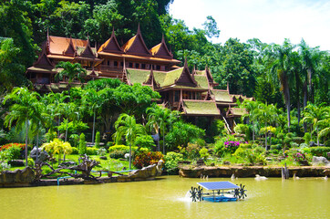 UTHAI THANI PROVINCE, THAILAND - August, 2016: Wat Khao Wong  Buddhist temple in summer day