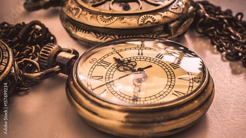 Plakat Zabytkowy zegarek kieszonkowy