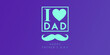 canvas print picture - happy fathers day color duo tone background