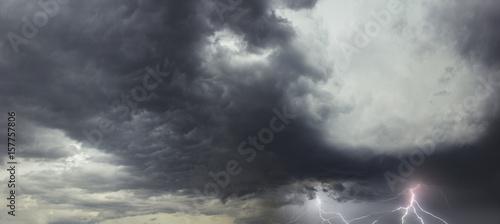 Türaufkleber Darknightsky Storm in Florida