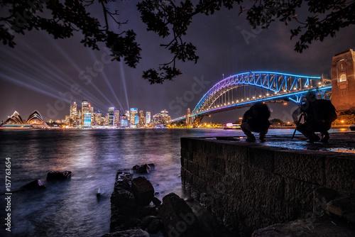 Sydney nightlight, Australia Canvas Print