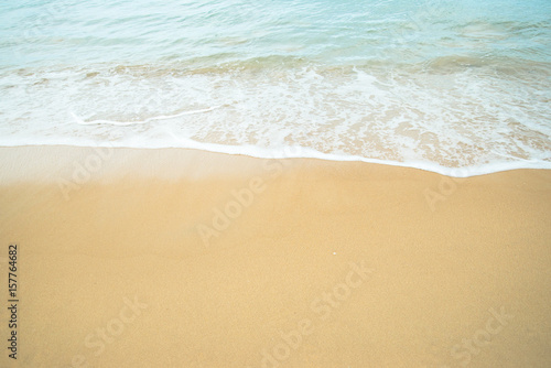 Foto auf Gartenposter Strand beautiful beach and sea water