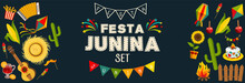 Festa Junina Horizontal Backgr...