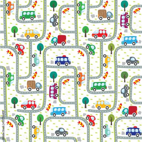 samochody-na-drodze-wzor