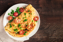 Omelet With Parsley, Cherry To...