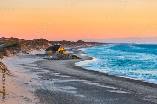 House at the beach near Gammel Skagen Wallpaper Mural