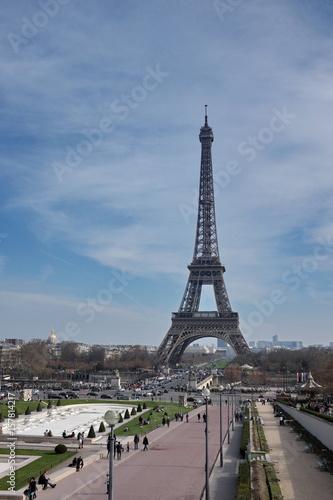 Plakat Tour Eiffel et esplanade du Champ de Mars, Paris.