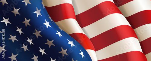 Fotografia Flag United States of America. Vector