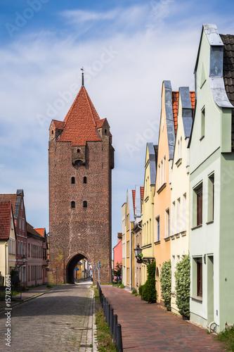 Fotografie, Obraz  Dammtor in der Altstadt von Barth an der Ostsee