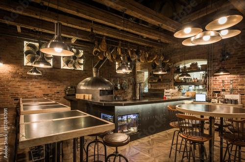 Foto op Canvas Pizzeria Pizzeria interior