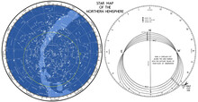 Star Map. The Search Mobile Map Of The Starry Sky Of The Northern Hemisphere. Vector Is Not Traced, Many Layers. Works In A Wide Range Of Geographical Latitudes.