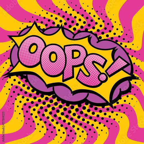 Zdjęcie XXL Pop Art Oops Text Design