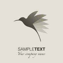 Hummingbird Silhouette Logo. Vector Illustration