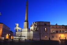 The Piazza Del Quirinale With ...