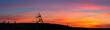 Leinwanddruck Bild - Tetraeder bei Sonnenuntergang