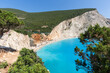 Amazing landscape of blue waters of Porto Katsiki Beach, Lefkada, Ionian Islands, Greece